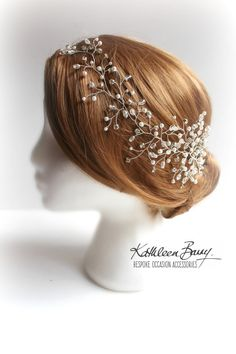 R1300 Mich Hairpiece hair vine   Wedding by KathleenBarryJewelry wedding hair accessories popular