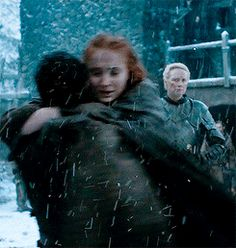 Sansa & Jon<-- that was one of my favorite scenes... Can't wait to see Arya come home