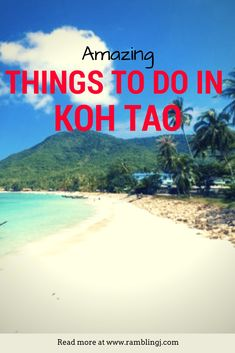 Koh Tao Thailand - If you're looking for things to do in Koh Tao or places to stay and things to see. This Koh Tao travel guide is for you. Thailand Travel Guide, Visit Thailand, Asia Travel, Travel Blog, Croatia Travel, Travel Articles, Koh Phangan, Chiang Mai, Phuket