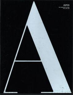 // Aspen Magazine, The cult magazine of the Sixties. New York. Via pbagalleries. Book Design, Layout Design, Design Art, Art Designs, Typography Inspiration, Graphic Design Inspiration, Graphic Design Typography, Lettering Design, Typography Letters