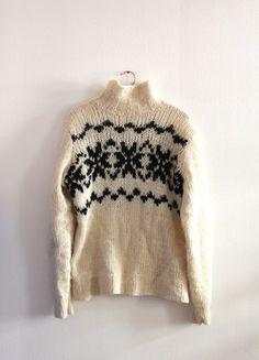 Kaufe meinen Artikel bei #Kleiderkreisel http://www.kleiderkreisel.de/damenmode/strickpullover/118437590-norweger-pulli-pullover-wollpulli-wollpullover-wolle-schwarz-weiss-winterpulli-selbstgestrickt