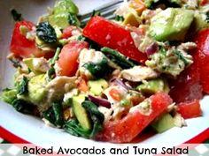 Baked Avocados and Tuna Salad, healthy and Delicious. #avocado #Tuna #healthy