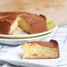 Golden pear and almond cake- when eaten while still warm, it dissolves on your tongue