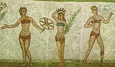 You may think that the body-baring bikinis of today would have shocked the world centuries ago but you'd be wrong. Actually today's swimwear is rather similar to that which was worn in ancient Greece as far back as 300 BC. As pictured on mosaic walls, ancient Greek women were barely covered by pieces of fabric, much like the scanty bikinis of the 20th century!
