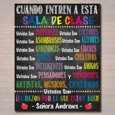 Custom Spanish Classroom Rules Poster Spanish Class Decor