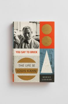 Louis Kahn, Book Posters, Typography Design, Vintage Designs, Illustration, Design Art, Literature, Diy, Books
