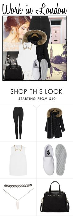 """27. Work in London"" by queenxxbee ❤ liked on Polyvore featuring Topshop, Miu Miu, Vans, Wet Seal, Furla and River Island"