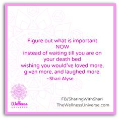 The #Wellness Universe #Quote of the Day by Shari Alyse @sharialyse  #WUVIP #gratitude #happiness www.TheWellnessUniverse.com