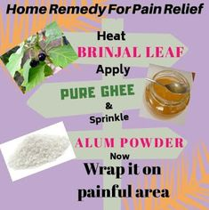 Home remedy for natural pain relief Natural Pain Relief, Home Remedies, How To Apply, Pure Products, Remedies