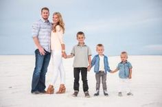 Family photo at the Salt Flats. Salt Lake City, Ut. by janice
