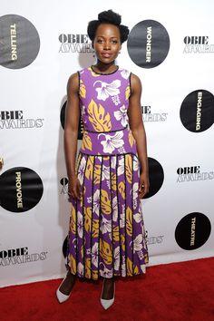 WHO: Lupita Nyong'o WHAT: Prada WHERE: 61st Annual Obie Awards, New York City WHEN: May 23, 2016