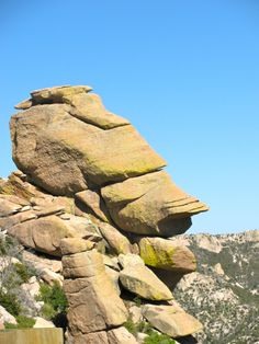 Mr. Rock Face! Past Windy Point Vista, Mt Lemmon, Arizona. Let's head up the mountain next time you're here!!