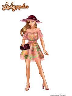 Прасковена рокля с пролетни цветове (ЛП)
