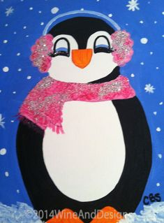 penguin canvas painting - Google Search