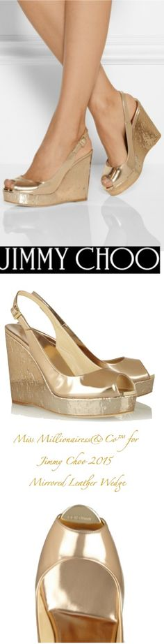 Oh you Jimmy Choo!....Jimmy Choo Mirrored Leather Wedge Sling-Backs - Accessories Show™
