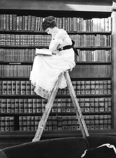 I see this and think of many things. At this moment it is Emily researching her paper at the Grovers Corner Library.