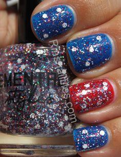 #nails #nail_art 4th of july nails