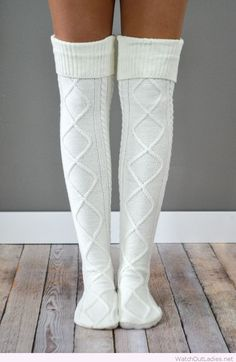 The Cream Diamond Cable Knit Boot Socks are our highest-quality, most popular boot socks. One-size-fits-most with fast Look Fashion, Teen Fashion, Winter Fashion, Fashion Outfits, Womens Fashion, Fashion Boots, Travel Fashion, College Fashion, College Outfits