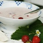 cold strawberry buttermilk soup from badut
