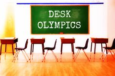 Feel bored with seating arrangement in your classroom? Try Desk Olympics! #education #teachers