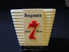 """Vintage """"V"""" Shaped Seagram's 7 Crown Swizzle / Stir Stick / Rod Holder Bar Cave… Sold $16.98"""