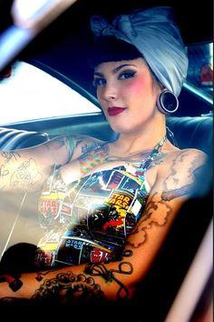 Rockabilly style - beautiful lady