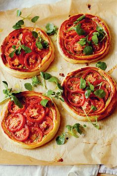 WHAT TO EAT TONIGHT - Tomato and pesto tarts: So simple, you really can make these on a weeknight. Serve with a watercress salad