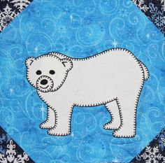 Polar bear PDF applique pattern baby or kid's by MsPDesignsUSA