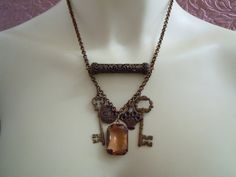 Steampunk Jewelry Necklace with Keys by ishJewelry on Etsy, $42.00