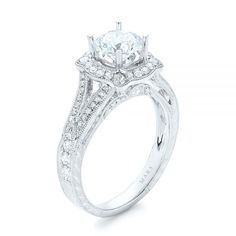 Diamond Halo Engagement Ring | Mars Collection | Joseph Jewelry | Bellevue | Seattle | Online | Design Your Own Ring