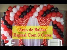 ARCO DE BALÕES - COMO FAZER ARCO DE BALÕES ESPIRAL - YouTube