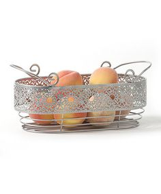 Victorian Lace Oval Basket by AQ #zulily #zulilyfinds