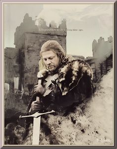 A lovely portrait of Ned (Sean Bean)