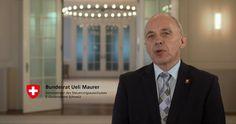 Bundesrat Ueli Maurer präsidiert den Steuerungsausschuss von E-Governement Schweiz. Sein Statement dazu.