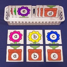 Flower Alphabet Puzzles (from Childcareland)