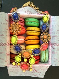 macrons AND jewelry? what could be better?