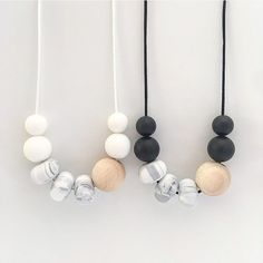 Infant Donut Shaped Teething Necklaces~brand New~ Modern Design 5 Rational