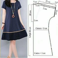 Tunic Sewing Patterns, Sewing Blouses, Clothing Patterns, Dress Patterns, Simple Dress Pattern, Diy Clothes, Clothes For Women, Fashion Sewing, Simple Dresses