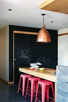 home inspiration: COLOUR-FULL COASTAL HOME, metal bar tools colorful