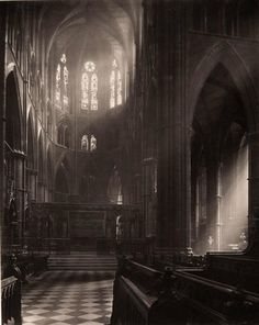 Frederick H. Evans~ Westminster Abbey~ Apse from Choir   1911