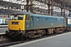 E3064 (later 85009) at Manchester Piccadilly on 17th March 1971. (Glawster Oldspot via Flickr) Electric Locomotive, Diesel Locomotive, Manchester Piccadilly, Train Pictures, British Rail, A Beast, Skyscrapers, Train Travel, Great Britain