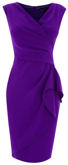 Purple Emmy Crepe Dress by Coast