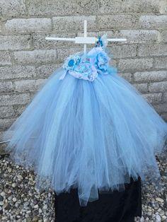 Blue Tutu Dress, Flower Girl Dress, Party Dress, Pageant Dress, Birthday Dress, by CoconutCoutureDiva on Etsy