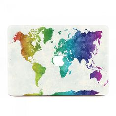 Picture macbook decals philippines pinterest macs philippines kmb 0422 world map in watercolor macbook skins gumiabroncs Gallery