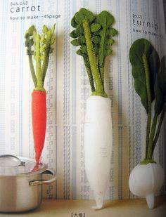 felted vegetables!