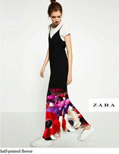 ZARA_printed flower jumpsuit
