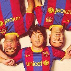 Xavi, Messi i Iniesta. Els 3 millors del món