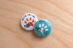 Rescue Cats are Purr-fect Pin Back by theOtterandtheOwl on Etsy