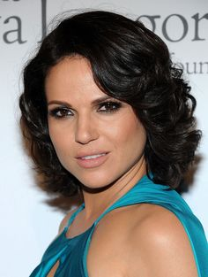 Lana Parrilla Short Curls Lana Parrilla looked glam at the pre-ALMA Awards dinner with her short curly ' do. Description from pinterest.com. I searched for this on bing.com/images