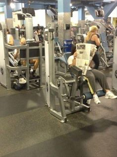you're doing it wrong at the gym